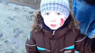 Влог:Сделали Кириллу первое тату ,ШОГ!Катаемся с огромной горки!