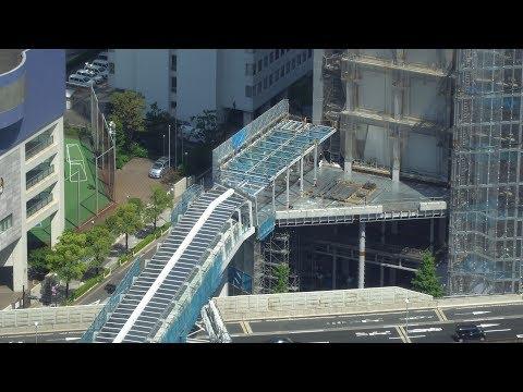 浜松町駅から竹芝駅・竹芝ふ頭を結ぶペデストリアンデッキ歩行者デッキの建設状況2019年5月25日