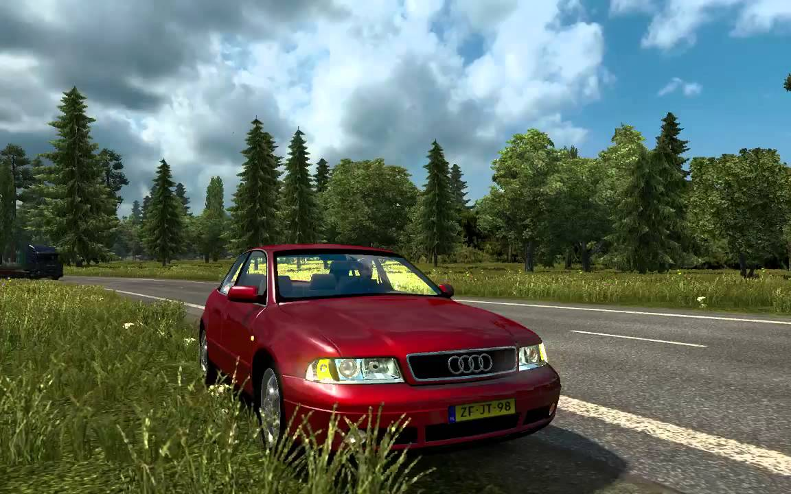 Ets2 Audi A4 B5 1999 By Dragonmodz Beta Preview Youtube