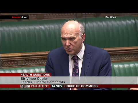 House of Commons : Sir Vince Cable MP - 14th November 2017