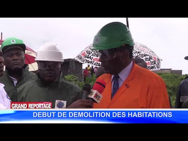 DEMOLITION DES HABITATIONS ANARCHIQUES DU DOMAINE DE LA CORAF, Pointe Noire CONG