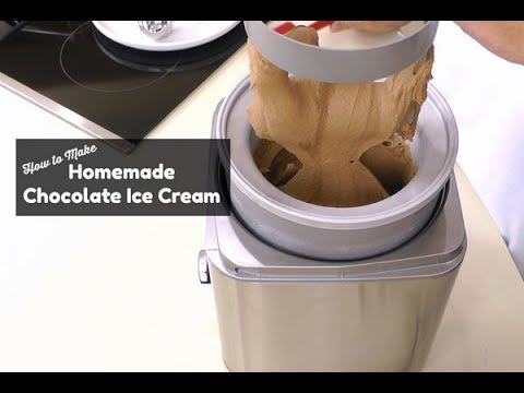 How To Make Homemade Chocolate Ice Cream ~ Cuisinart Ice Cream Maker ~ Amy Learns To Cook