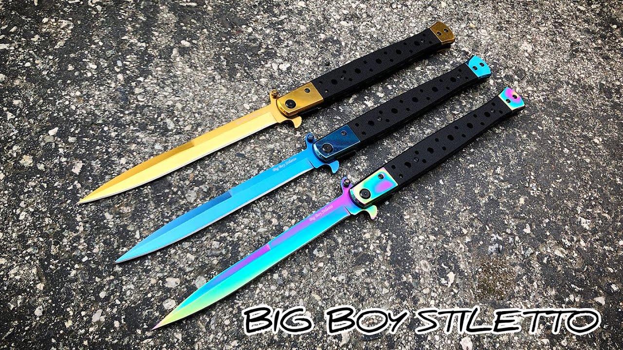 Big Boy Stiletto Spring Assisted Pocket Knife