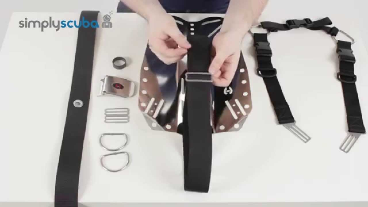 How to Fit the Hollis Elite II Harness System to a Backplate - www.simplyscuba.com