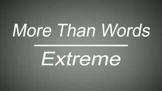 more than words extreme lyrics and chords