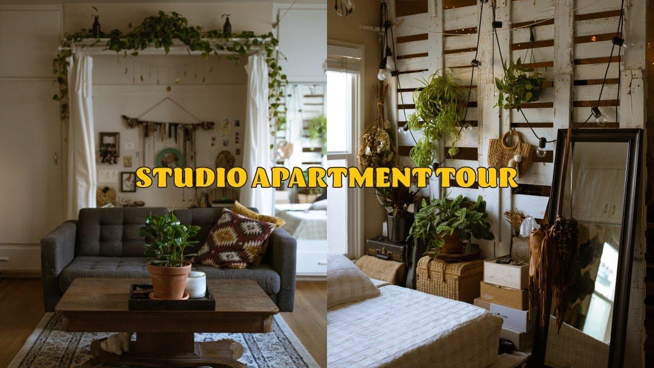 STUDIO APARTMENT TOUR 🏡 (living in 500 sq ft in california)