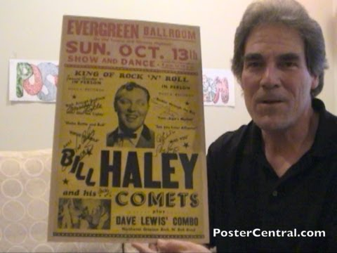 Bill Haley & His Comets Concert Posters 1950s Window Cards