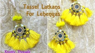 Mirror Latkans | Making of Designer Tassel Latkans for Lehenga at Home | Tutorial | Knotty Threadz