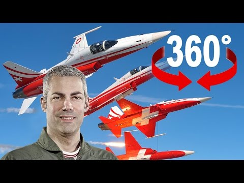 360°-Video: Mit Kampfjet-Pilot «Gandalf» im Cockpit der Patrouille Suisse