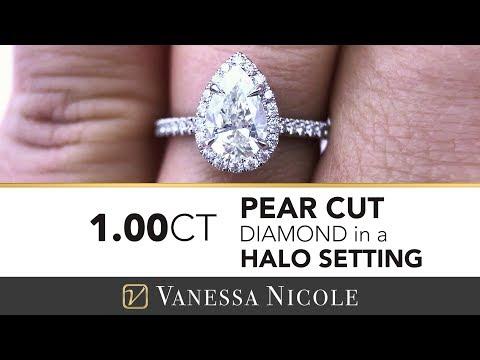 PEAR CUT DIAMOND ENGAGEMENT RING - 1 Carat Pear Cut Diamond Ring for Emily