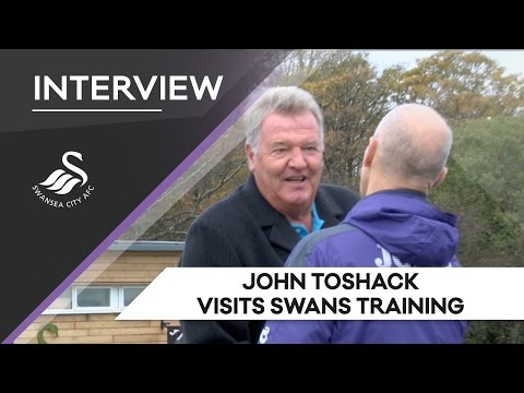 Swans TV - John Toshack visits training