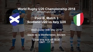 Live: World Rugby U20 Championship - Scotland U20 v Italy U20