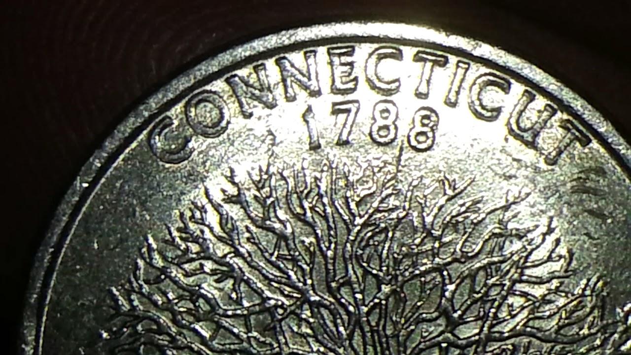 1999 P CONNECTICUT STATE QUARTER DOUBLE DIE REVERSE
