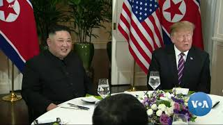 Trump, Kim Meet for Dinner at Start of Vietnam Summit