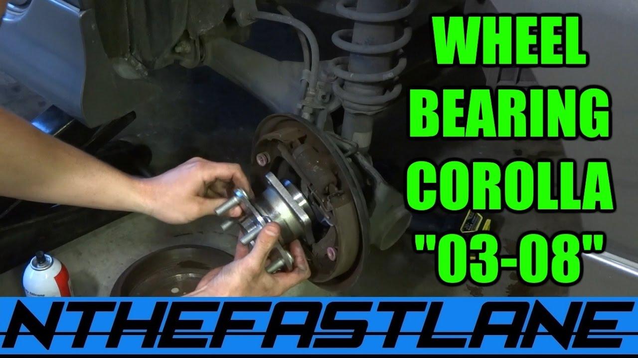 Wheel Bearing Hub How To Replace Rear Corolla Type S 03 08
