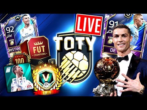 FIFA 18 MOBILE: Live 😱🔥 TOTY WEEKEND LEAGUE!