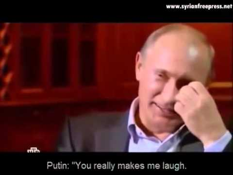 Putin laughs in face of a journalist about the anti missile system (ENG) subtitle