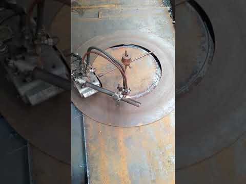Cut to size of steel plate