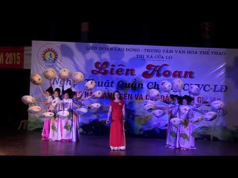 Cảm xúc từ câu hò điệu ví do cô giáo Kim Ngân và tốp múa(CĐ DLTM NA)