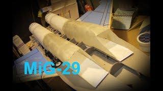 видео: Радиоуправляемые модели. Модели самолетов МиГ 29. Постройки и полет.