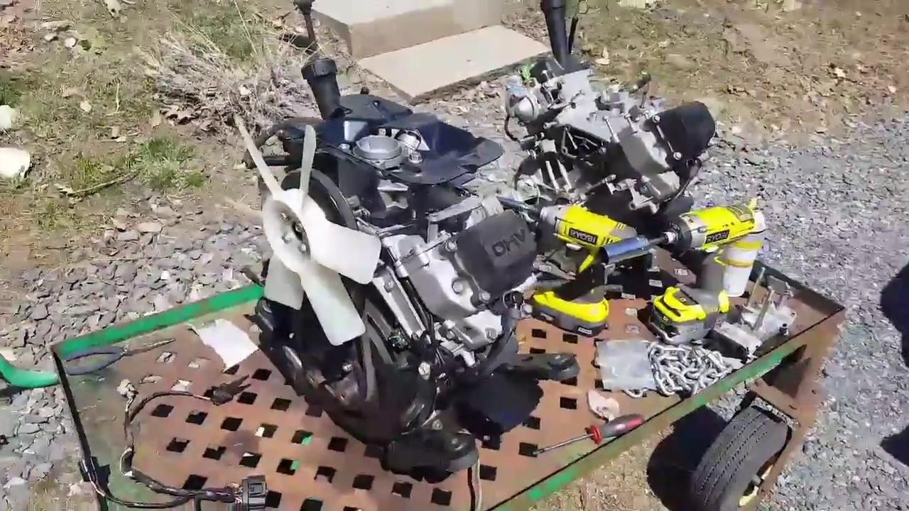 John Deere 445, 425 Engine Installation - Kawasaki FD620D - YouTubeYouTube