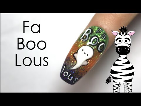 3d Fa Boo Lou Ghost Acrylic Nail Art Tutorial