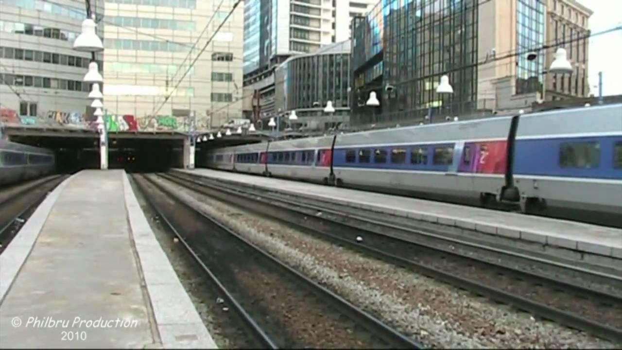 Tgv En Gare De Paris Montparnasse Youtube
