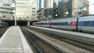TGV en gare de Paris-Montparnasse