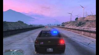 GTA 5 PC Officer Drives Unmarked Chevy Impala On Rims
