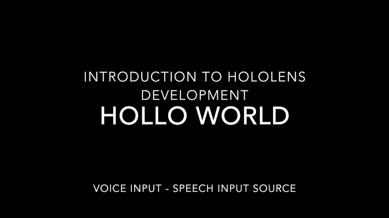 Hololens Contest – (8 Weeks to go) – Inputs Voice, Raw Camera