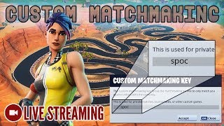 🔴 Custom Matchmaking | NA East | Code: spocisback [Fortnite]