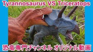 T-REX Tyrannosaurus VS Triceratops ティラノサウルス VS トリケラトプス