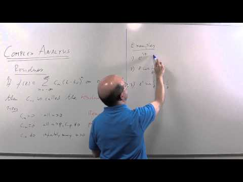 Complex Analysis 13: Residues part 1, essential singularities