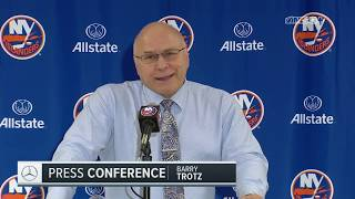 Barry Trotz Jokes About Isles Fans Chanting His Name   New York Islanders Post Game
