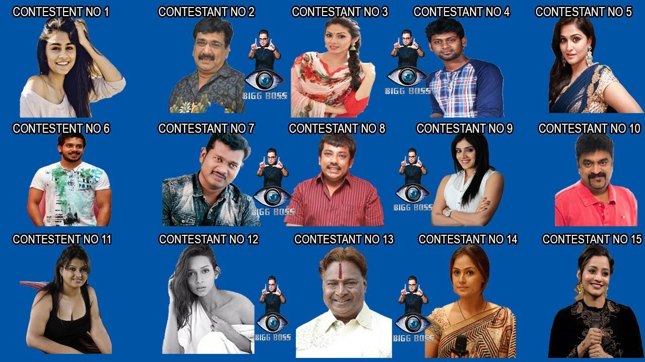 Vijay Tv Bigg Boss Tamil Season 3 Contestants Voting – Desenhos Para