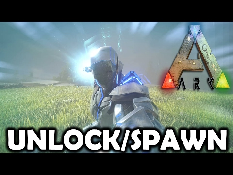 Ark Survival Evolved How To Unlock/Spawn Tek Tier/ How To Use Armour And Tek Rifle