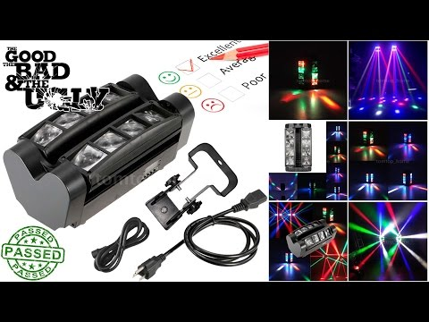 Mobile DJ | Uboxing / Review | 8 LED DUAL MOVING HEAD Laser Light