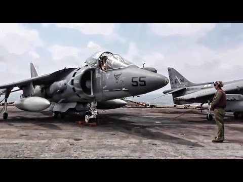 Harrier Takeoff & Landing Aboard The USS Kearsarge