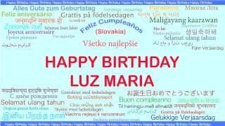LuzMaria   Languages Idiomas - Happy Birthday