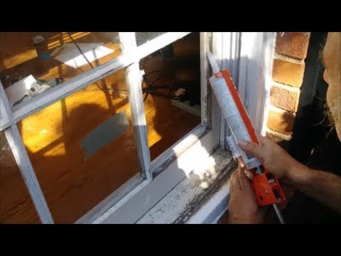 Replace A Broken Window Pane On Wood Frame Using Silicon Step