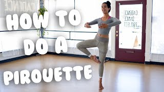 How To Do A Pirouette For Beginners I @MissAuti