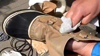 ソレルカリブのお手入れ。 Care of the Sorel boots.