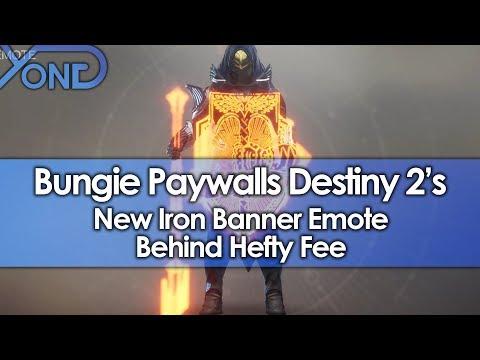 Bungie Paywalls Destiny 2's Coolest Iron Banner Emote Behind Hefty Fee