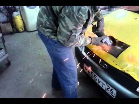 Спойлер (дефлектор) капота от CA Plastic Лада калина Кросс - YouTube