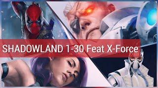 Shadowland 1-30 | X-Force Edition Feat. Deadpool, Psylocke, Domino etc - Marvel Future Fight
