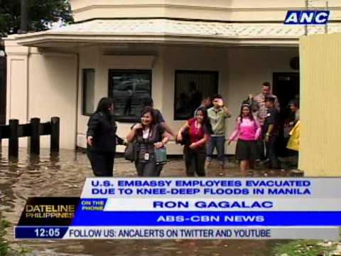 US Embassy Employees Evacuated Due To Knee Deep Floods In Manila - Map location of us embassy manila