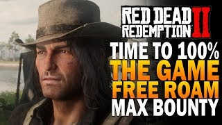 Time To 100% The Game With Max Bounty - Red Dead Redemption 2 Free Roam - Members Chat