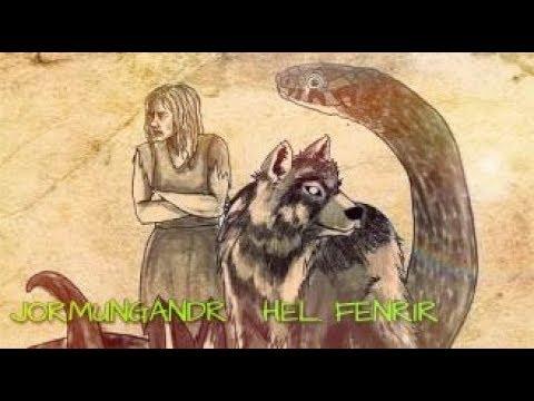 Kisah Anak Anak Loki ( Jormungandr , Hel , Fenrir ) Mitologi Nordik