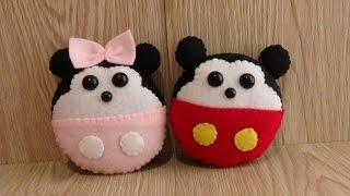 Cara Membuat Mickey dan Minnie Mouse dari Kain Flanel - Tutorial DIY Kain Flanel