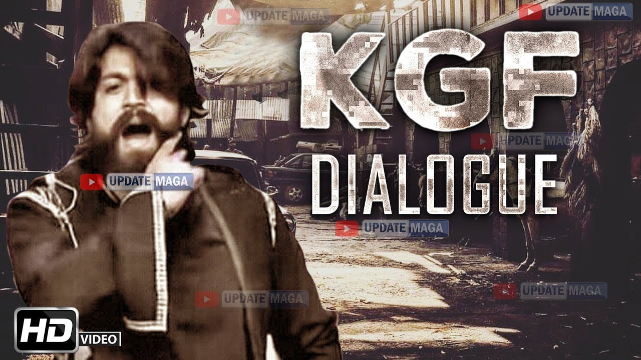 Yash Kgf Dialogue Rocking Star Yash Kgf Kannada Movie Dialogue